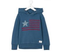 flag print hoodie