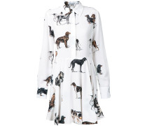 Hemdkleid mit Hunde-Prints