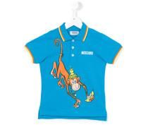 Poloshirt mit Affen-Print