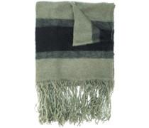 striped scarf with fringed hem