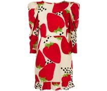 Minikleid mit Erdbeerenmotiv