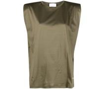 shoulder-pad cotton T-shirt