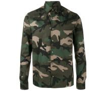 Hemd mit Camouflage-Print - men - Baumwolle - 39