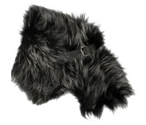 buckled fur scarf - women
