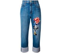 Jeans mit Applikationen