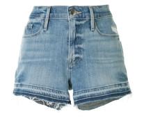 Ungesäumte Jeans-Shorts