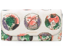 printed continental wallet - women