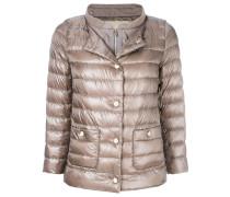 layered look padded jacket