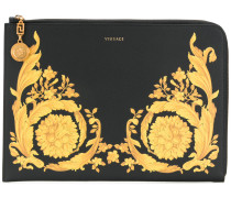 Baroque print clutch bag