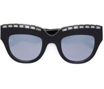 Cat-Eye-Sonnenbrille mit Verzierung