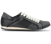 raw edge low top sneakers
