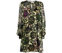 Gesmoktes Kleid mit Print