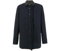 double collar ruffled shirt