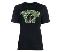 Medusa floral embroidered T-shirt