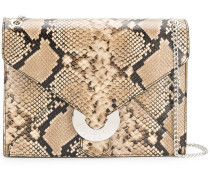 snake effect shoulder bag