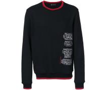 Sweatshirt mit barocker Stickerei