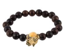 Perlenarmband mit 18kt Gelbgoldanhänger