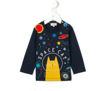 """Langarmshirt mit """"Space Cat""""-Print"""