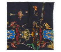 Kaschmirschal mit Wappen-Print