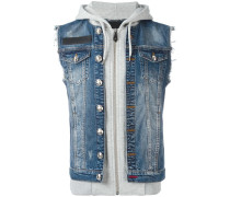 'Indiano' denim and hoodie jacket