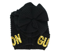 sequin-embroidered beanie
