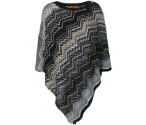 zigzag knit cape