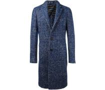 single breasted boucle coat