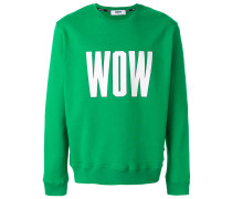 "Sweatshirt mit ""Wow""-Print"