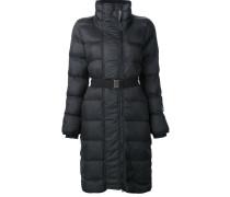Langer Mantel mit Gurt