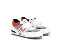 Sneakers mit Riemen - kids - Leder/Nylon/rubber