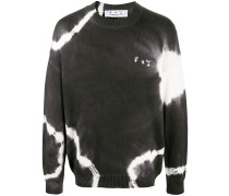 Pullover mit Batik-Print