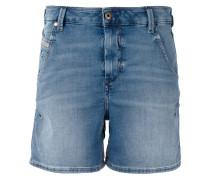 Jeans-Shorts mit Logo-Detail