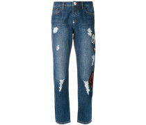 Love Lips boyfriend jeans