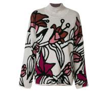 Pullover mit Lilienmotiv