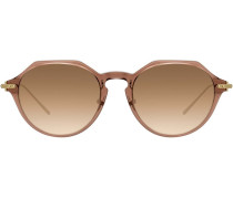 Sonnenbrille mit Metallic-Effekt