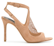 netted panel sandals