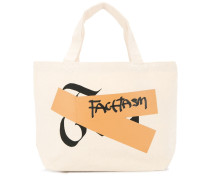 Kleiner Shopper mit Logo-Patch