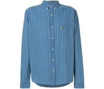 micro-pattern logo patch shirt