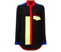 Seidenhemd in Colour-Block-Optik - women