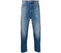 Tapered-Jeans in Distressed-Optik