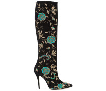 Epresi floral embroidered knee boots