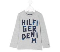 'Hilfiger' Sweatshirt mit Jeans-Print
