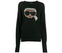 'Karl' Pullover mit Pixel-Motiv