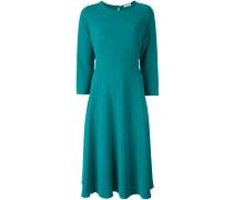 three-quarters sleeve flared dress