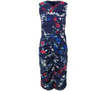 - Gerafftes Kleid mit Blumen-Print - women