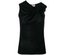 sleeveless bow top