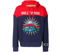 embellished cotton hoodie