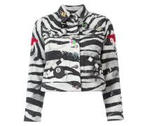 zebra print shrunken jacket