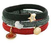 logo disc cluster bracelets