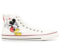High-Top-Sneakers mit Micky Maus